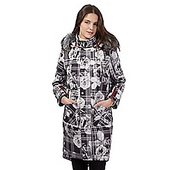 Preen/EDITION - Grey rose checked coat