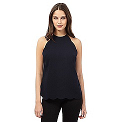 Giles/EDITION - Navy scallop cami top