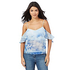 Giles/EDITION - Blue off-shoulder top