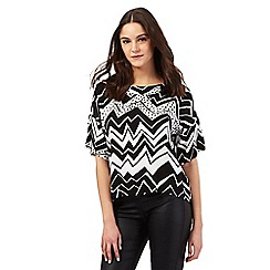 Preen/EDITION - Black zig zag print top