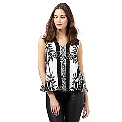 Preen/EDITION - Black palm print trapeze top
