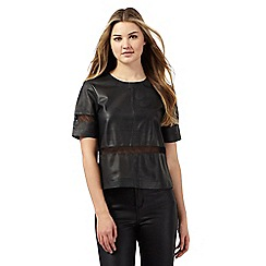 Todd Lynn/EDITION - Black leather perforated top
