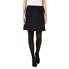 Giles/EDITION - Navy scallop pocket skirt