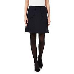 Giles/EDITION - Navy scallop pocket skirt