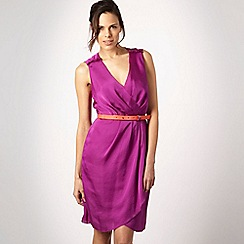 RI Roksanda Ilincic - Purple ruffle shoulder dress