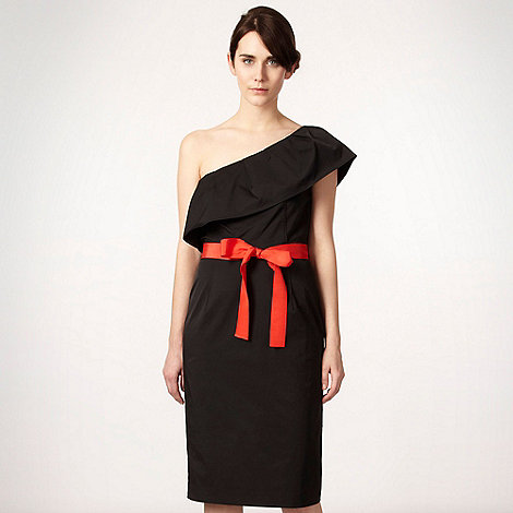 Roksanda Ilincic/EDITION - Black ruffled one-shoulder dress
