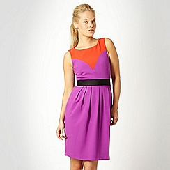 Roksanda Ilincic/EDITION - Purple colour block crepe dress