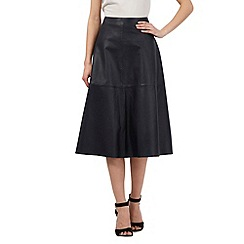 Giles/EDITION - Navy leather skirt