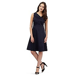 Giles/EDITION - Navy cross bow neck prom dress