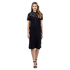 Giles/EDITION - Navy floral lace shirt dress