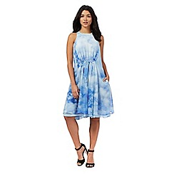 Giles/EDITION - Pale blue cloud print dress