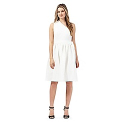 Preen/EDITION - Ivory one shoulder dress