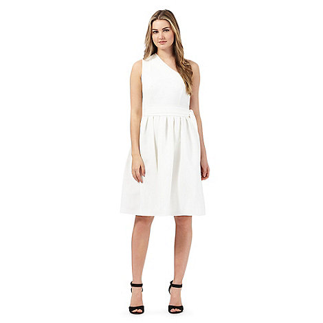 preen-edition - Ivory one shoulder dress