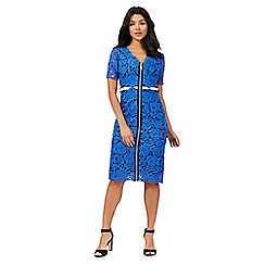 Preen/EDITION - Blue floral lace dress