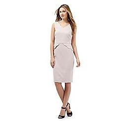 Giles/EDITION - Pale pink scalloped peplum dress
