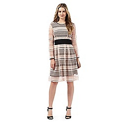 Todd Lynn/EDITION - Pink and black cut-out dress
