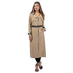 Preen/EDITION - Beige tipped trench coat