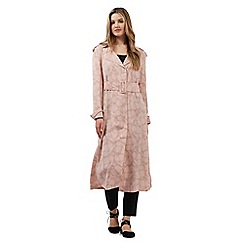 Giles/EDITION - Pink daisy print mac coat