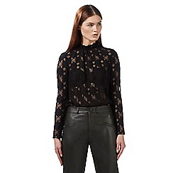 Preen/EDITION - Black 'Tina' lace top