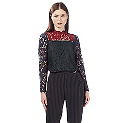 Preen/EDITION - Multi-coloured lace top