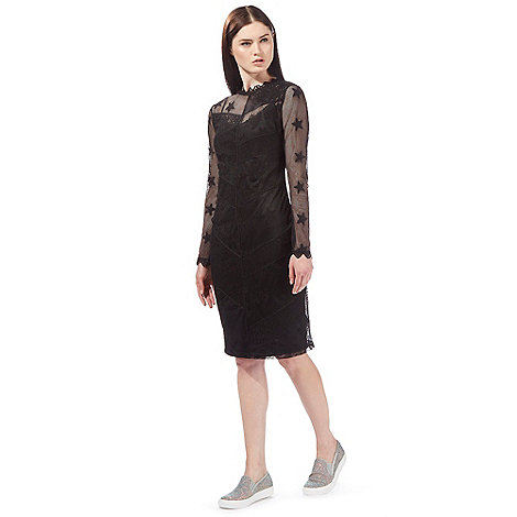 preen-edition - Black mesh star dress
