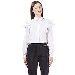 Preen/EDITION - White frill shirt