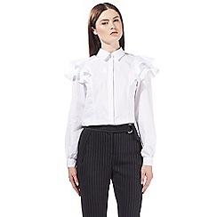 Preen/EDITION - White frill shirt