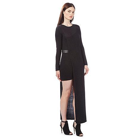 todd-lynn-edition - Black mixed length knitted dress