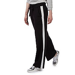 Preen/EDITION - Black white trimmed wide leg trousers