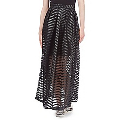 Todd Lynn/EDITION - Black mesh maxi skirt