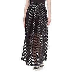 Todd Lynn/EDITION - Black mesh maxi skirt