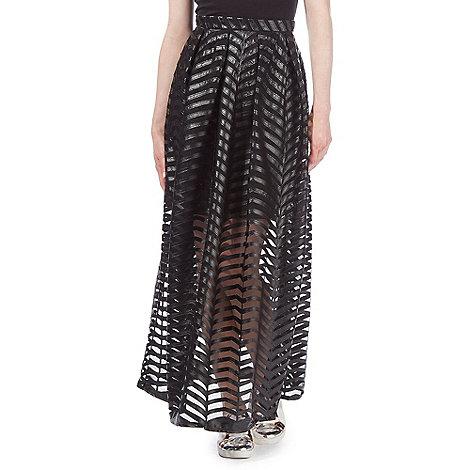 todd-lynn-edition - Black mesh maxi skirt