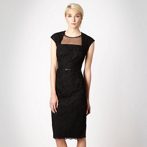Marios Schwab/EDITION - Black lace panelled evening dress