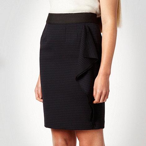 Roksanda Ilincic/EDITION - Navy jacquard ruffle skirt