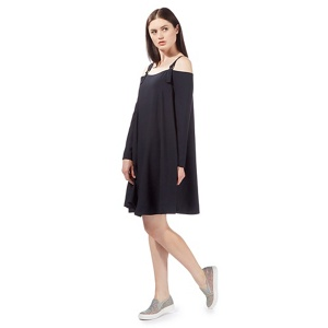 Preen/EDITION Navy 'Hermione' cold shoulder dress