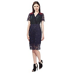 Preen/EDITION - Multi-coloured lace fitted dress