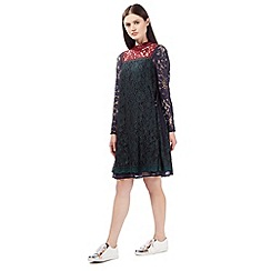 Preen/EDITION - Multi-coloured lace swing dress