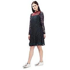 Preen/EDITION - Multi-coloured lace swing dress