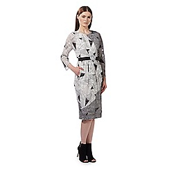 Preen/EDITION - Ivory triangle print midi dress