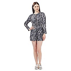 Todd Lynn/EDITION - Grey snake print playsuit