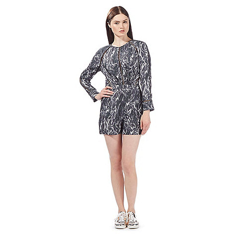 todd-lynn-edition - Grey snake print playsuit