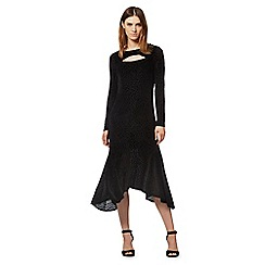 Todd Lynn/EDITION - Black devore animal print dress