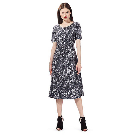 todd-lynn-edition - Grey snake print midi dress