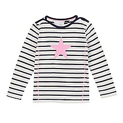 Preen/EDITION - White and navy striped star print top