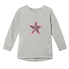Preen/EDITION - Girls' grey sequinned star sweater