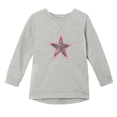 preen-edition - Girls+ grey sequinned star sweater