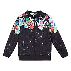 Preen/EDITION - Girls' navy galactic print bomber jacket