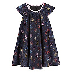 Preen/EDITION - Girls' navy floral print dress