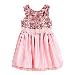 Preen/EDITION - Girls' pink sequin embellished dress