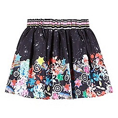 Preen/EDITION - Girls' navy galactic print skirt